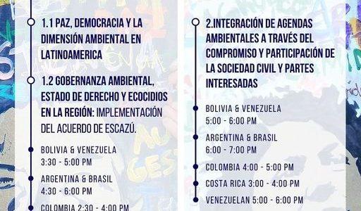 Sinergia de agendas por la integridad ecológica, la sostenibilidad y la paz en latinoamérica